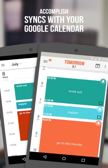 Многоцелевое приложение для составления правильного распорядка дня под названием - Accomplish.