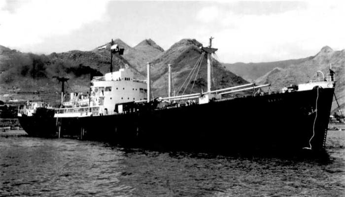 Торговое судно под названием - Эвангелия.