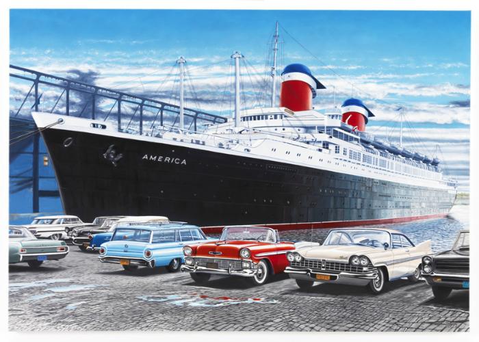 Океанический лайнер под названием - SS Америка.