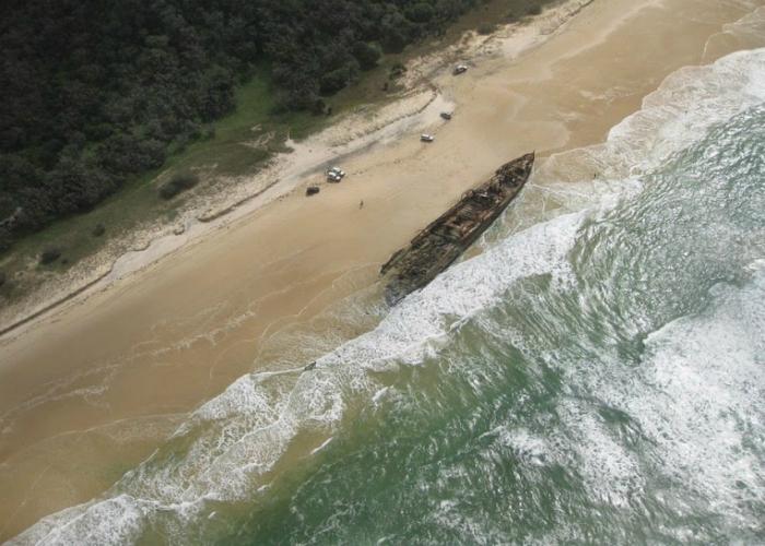 Остатки затонувшего турбинного парохода названием под - SS Махено.