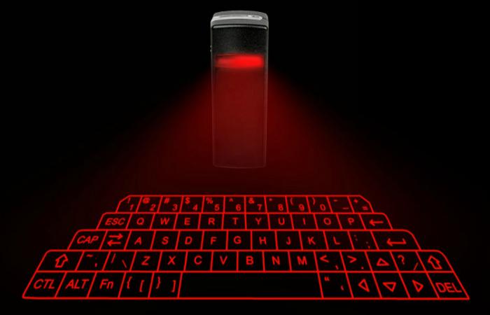 Удивительная виртуальная лазерная клавиатура.