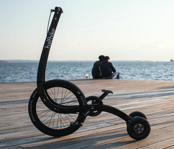 Необычный стоячий велосипед - Halfbike II.