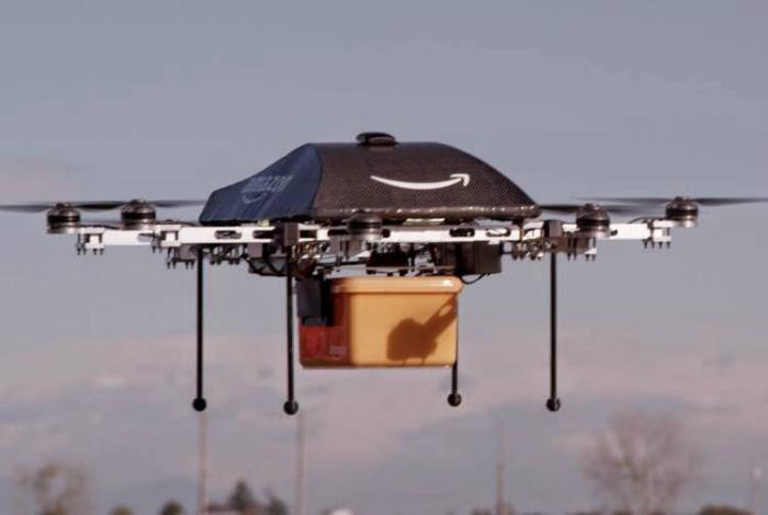 Необычный беспилотный многоцелевой летательный аппарат - Дрон.