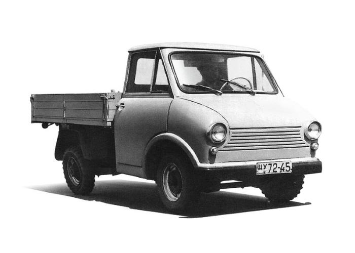 Советский грузовой автомобиль под названием - ЗАЗ 970, изготовленный запорожским заводом в 1961 году.