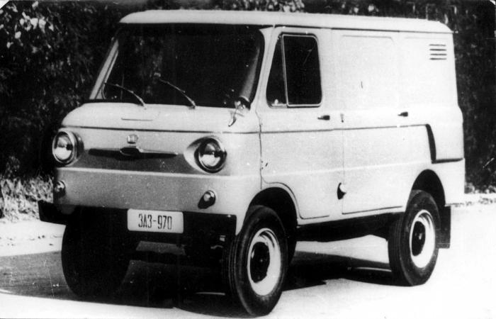 Советский микроавтобус под названием - ЗАЗ 970Б, изготовленный на запорожском автомобильном заводе в 1962 году.