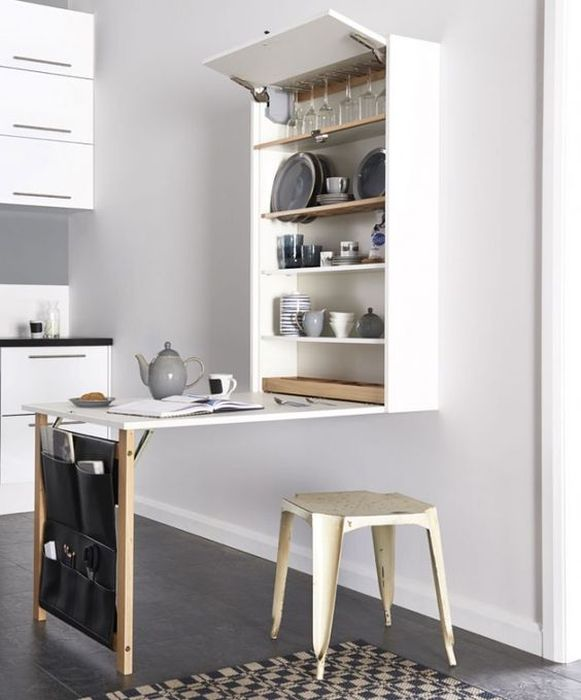 Складная мебель на кухне