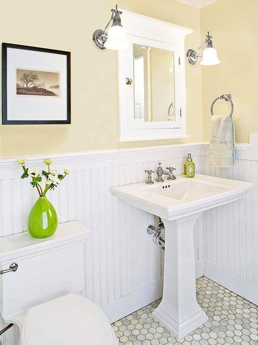 Нежный интерьер ванной комнаты