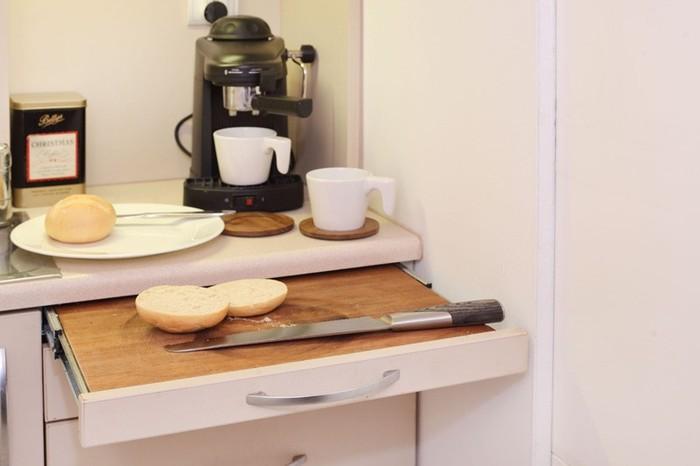 Функциональная рабочая поверхность на кухне