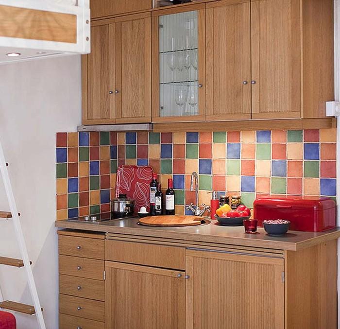 Разноцветный кухонный фартук