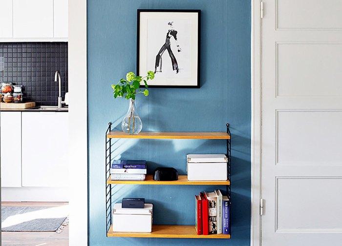 Синий разбавляет пространство и визуально расширяет его