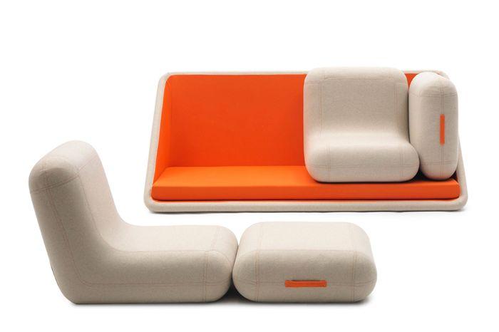 Яркий и функциональный диван