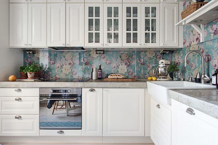 Стильный интерьер небольшой кухни