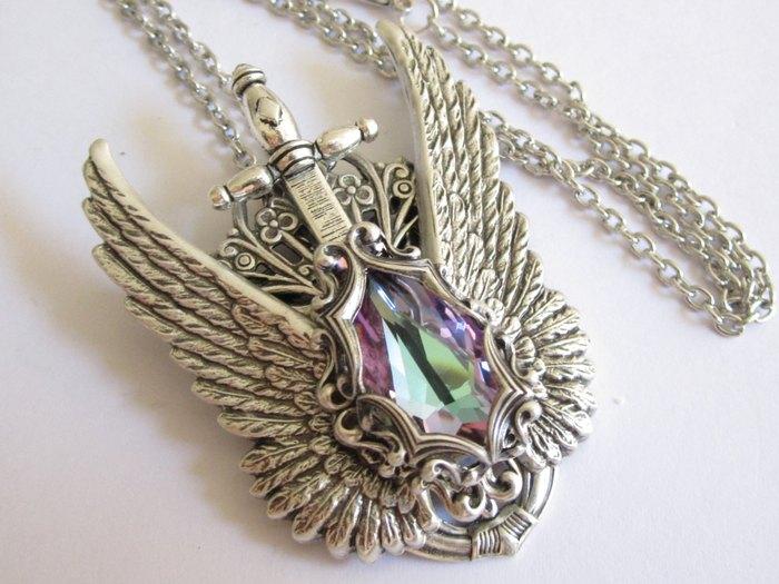 Кулон Лёд (состаренное серебро и кристалл Сваровски) Daedra Jewelry