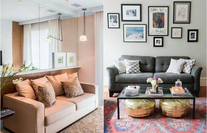 Маленькая гостиная: 10 хороших примеров оформления