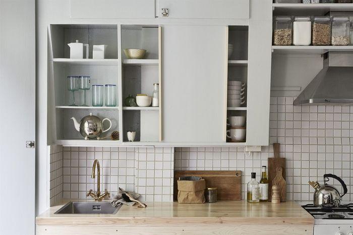 Стильное оформление небольшой кухни