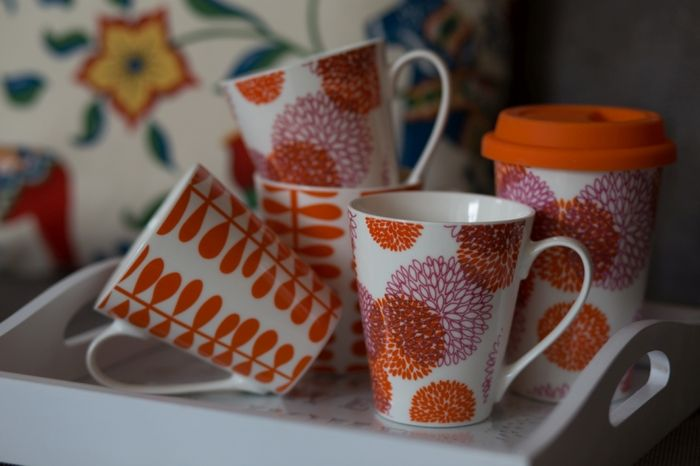 Красивые чашки, которые освежат интерьер кухни