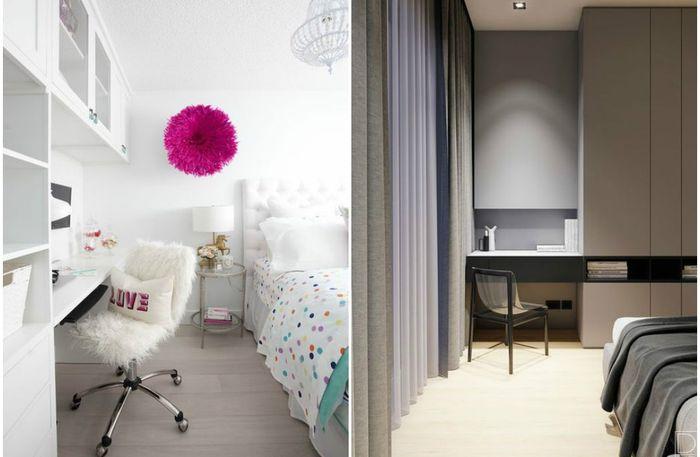 Рабочее место в небольшой спальне: 10 реальных примеров удачного обустройства