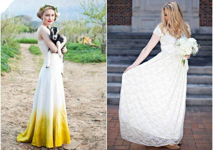 Необычные свадебные платья, которые легко сделать своими руками ac2ec6ee6bf