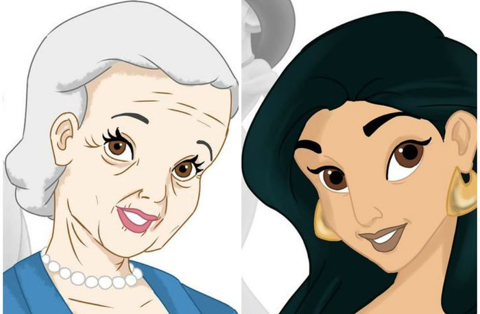 Если бы диснеевские принцессы могли стареть