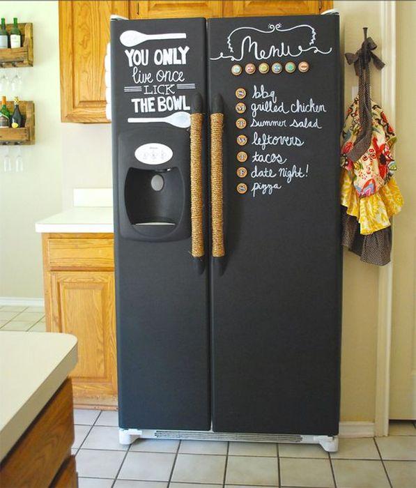 Красивый и стильный декор холодильника