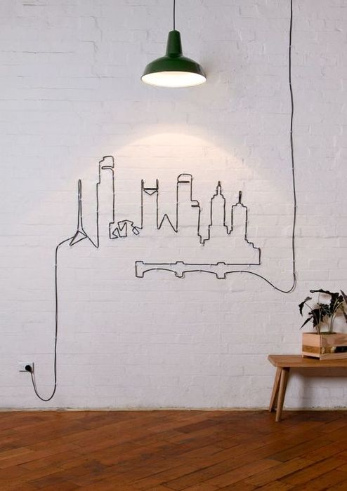 Произведение искусства из обычных электрических проводов