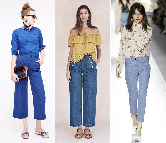 5. Укороченные джинсы
