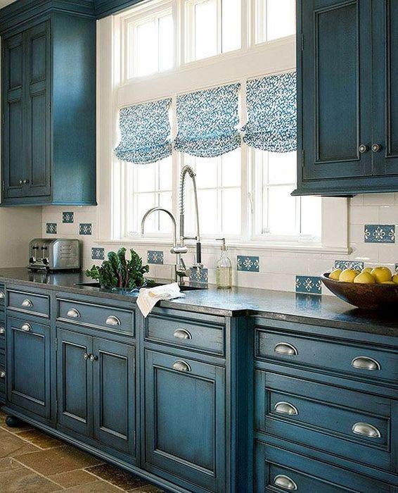 3. Красивые шторы на кухне