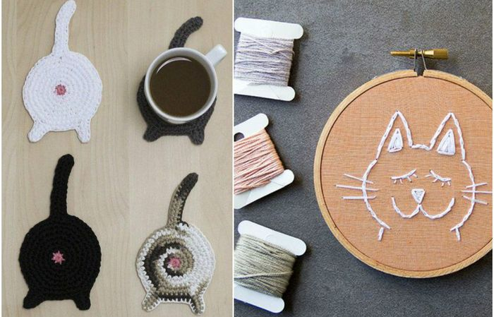 Милые котики: забавные идеи декора для тех, кто любит котов
