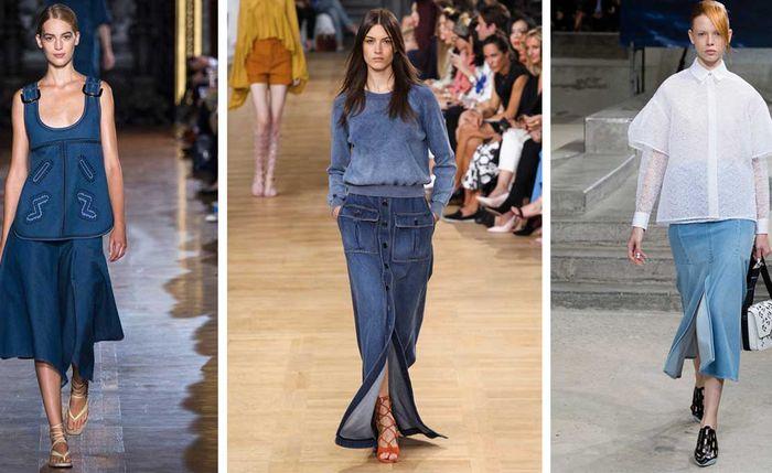 С чем носить джинсовую юбку: 7 актуальных образов на каждый день