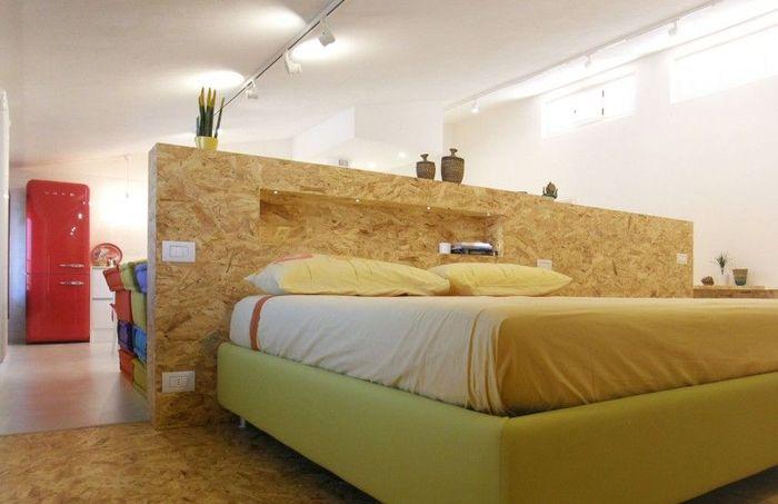 Уединённая зона спальни