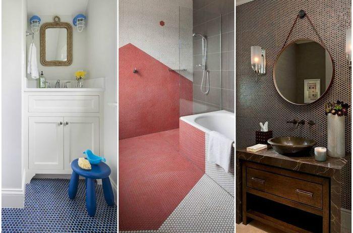 Мелкая плитка-мозаика в ванной: 10 роскошных идей для тех, кто затеял ремонт