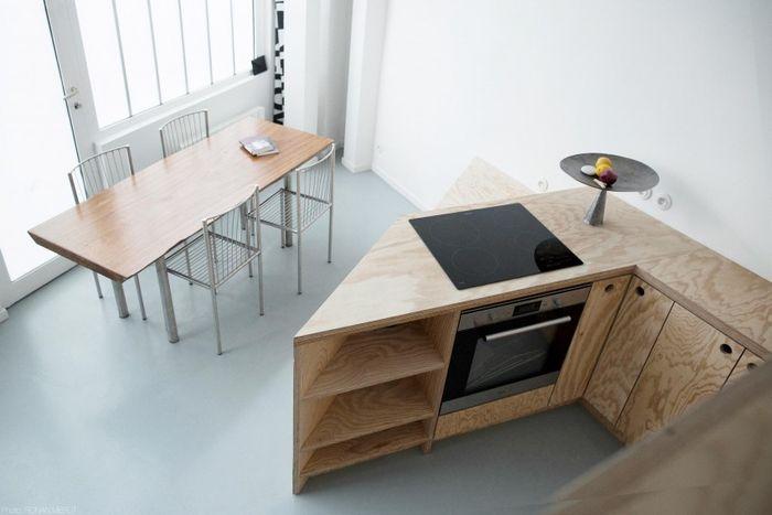 Кухня и столовая в маленьком доме
