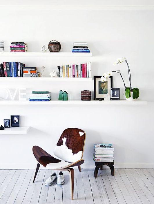 Полки для зрительного улучшения комнаты