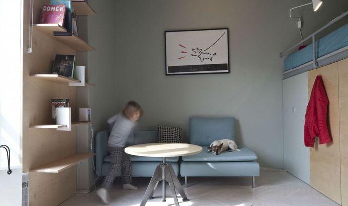 Зона гостиной и столовой