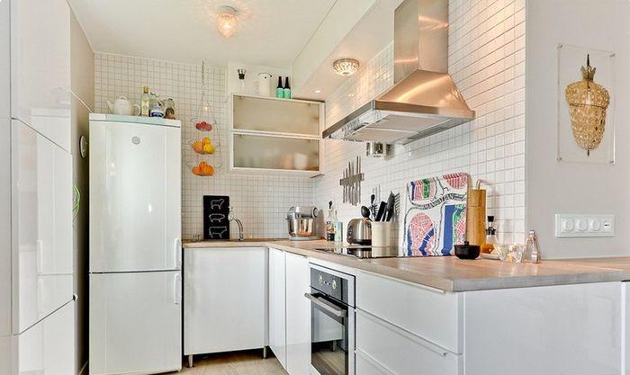 Уютная светлая кухня
