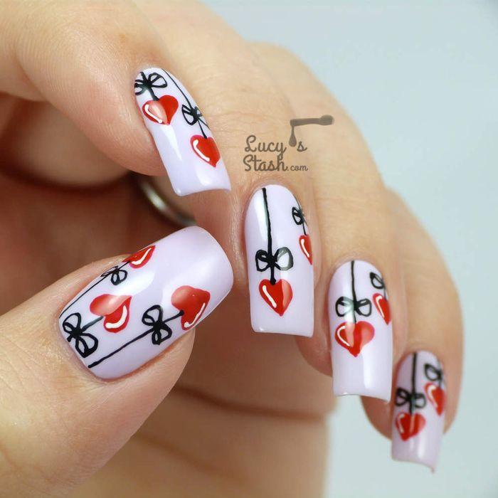Сердечки-цветы