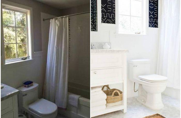 Поразительная переделка маленькой ванной