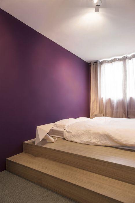 Успокаивающая цветовая гамма в спальне