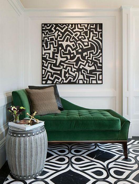 Крутой интерьер, который украсили мебелью из бархата