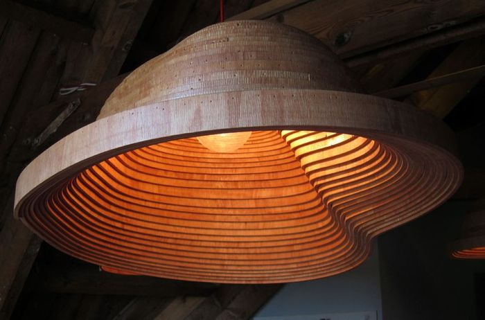 Светильник из фанеры