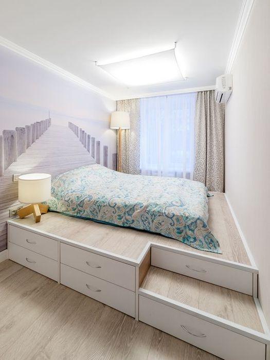 Красивая и светлая спальня