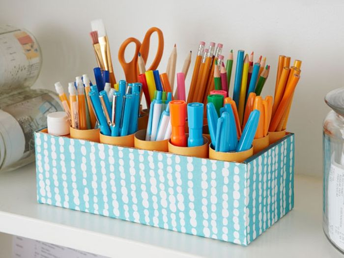 Как сделать органайзер для карандашей своими руками 20