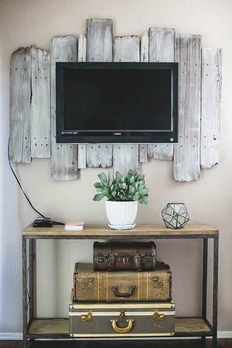 Идея №19: старые деревянные доски, как часть интерьера