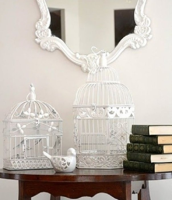 Идея №24: птичья клетка, как элемент декора