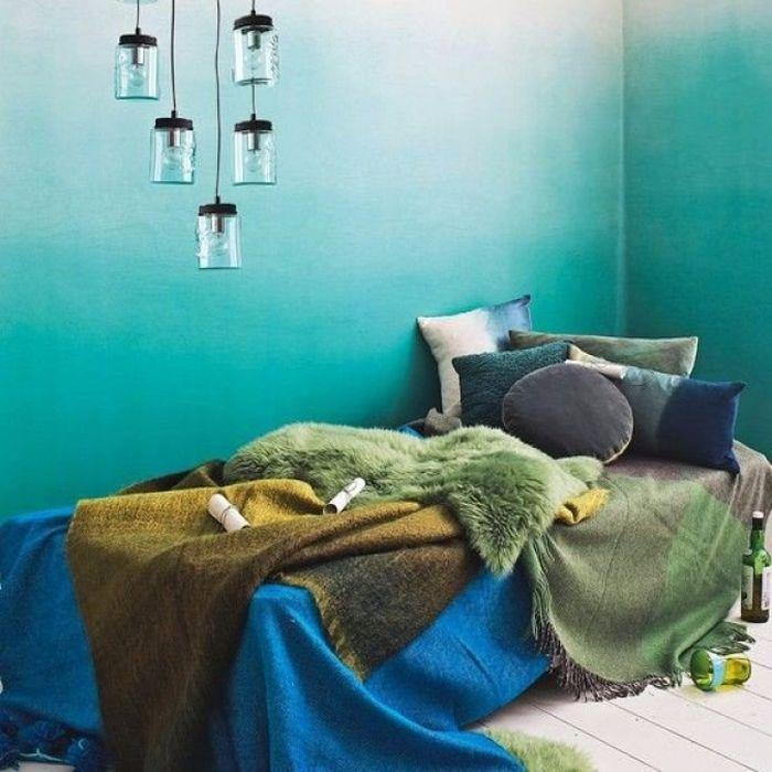 Свежий всплеск: синий и зелёный