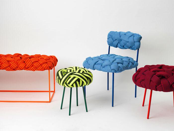 Яркая плетёная мебель