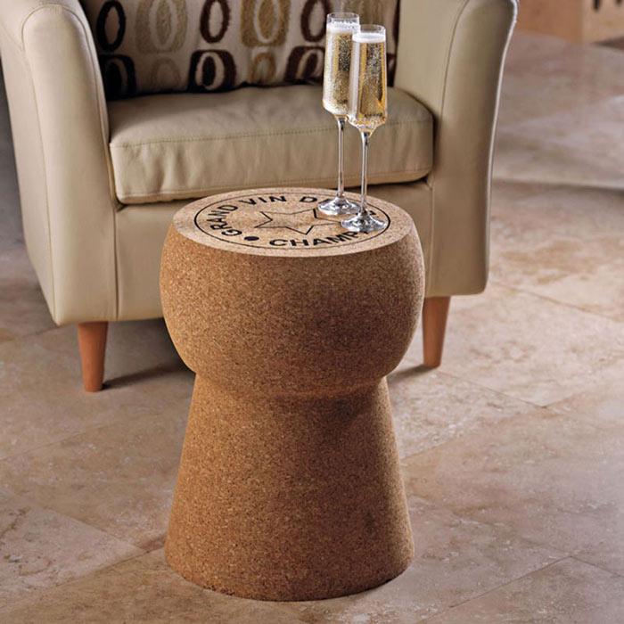 Журнальный столик в виде винной пробки