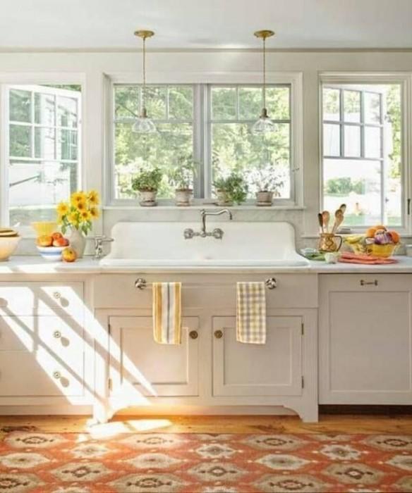 Приятная цветовая палитра для, как заведено выражаться, деревенской кухни