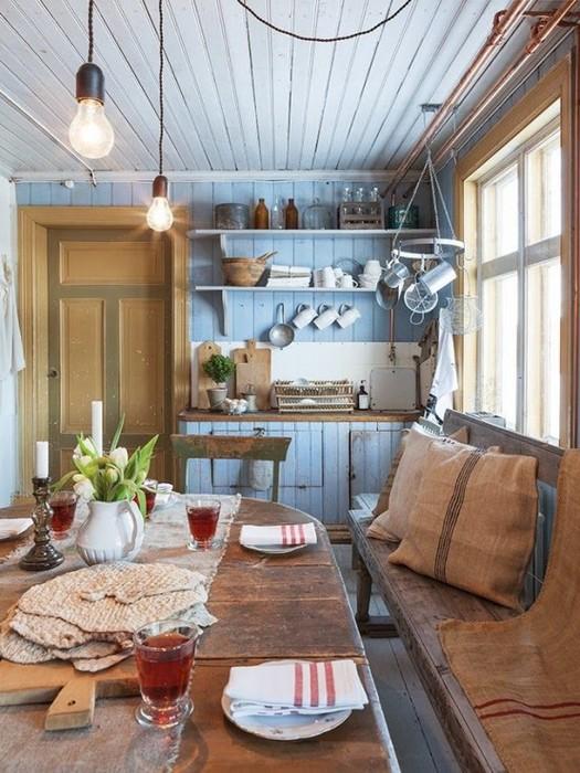 Элегантная кухня в деревенском стиле