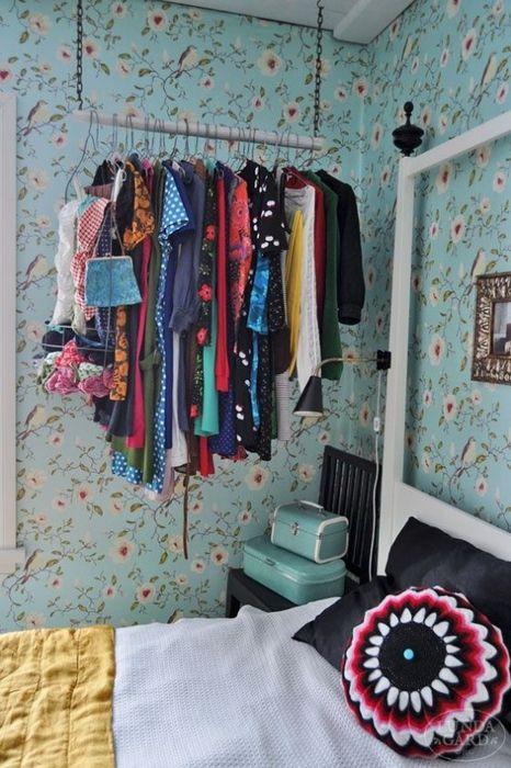 Хранение вещей без шкафа